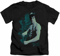 Bruce Lee kids t-shirt Feel black