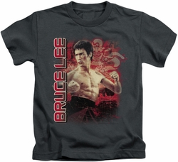 Bruce Lee kids t-shirt Fury charcoal