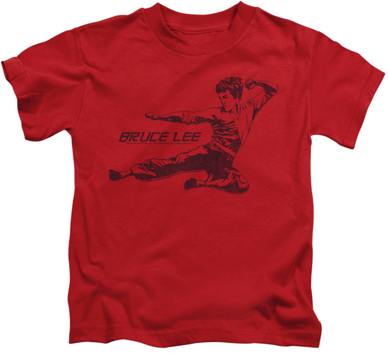 bruce lee kids t shirt line kick red. Black Bedroom Furniture Sets. Home Design Ideas
