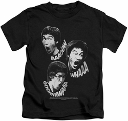Bruce Lee kids t-shirt Sounds Of The Dragon black