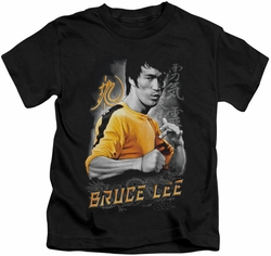Bruce Lee kids t-shirt Yellow Dragon black