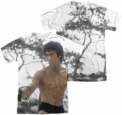Bruce Lee mens full sublimation t-shirt Battle Ready