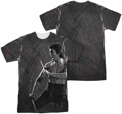 Bruce Lee mens full sublimation t-shirt Dragon Print