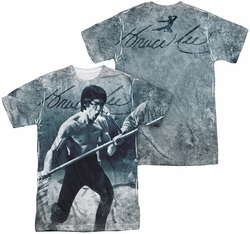 Bruce Lee mens full sublimation t-shirt Whoooaa