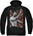Bruce Lee pull-over hoodie Concentrate adult black