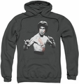 Bruce Lee pull-over hoodie Final Confrontation adult charcoal
