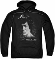 Bruce Lee pull-over hoodie In Your Face adult black