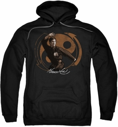 Bruce Lee pull-over hoodie Jeet Kun Do Pose adult black