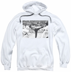 Bruce Lee pull-over hoodie Kick To The Head adult white