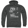Bruce Lee pull-over hoodie No Way As A Way adult charcoal