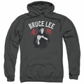 Bruce Lee pull-over hoodie Ready adult charcoal