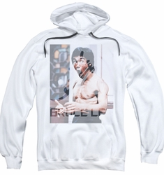 Bruce Lee pull-over hoodie Revving Up adult white