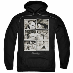 Bruce Lee pull-over hoodie Snap Shots adult black