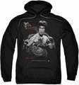 Bruce Lee pull-over hoodie The Dragon adult black