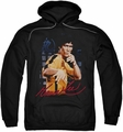 Bruce Lee pull-over hoodie Yellow Jumpsuit adult black