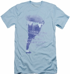 Bruce Lee slim-fit t-shirt 10,000 Kicks mens light blue