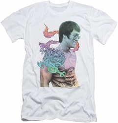 Bruce Lee slim-fit t-shirt A Little Bruce mens white