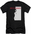 Bruce Lee slim-fit t-shirt Badass mens black