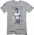 Bruce Lee slim-fit t-shirt Blue Jean Lee mens silver