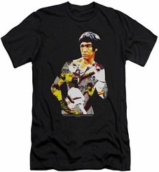 Bruce Lee slim-fit t-shirt Body Of Action mens black