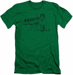 Bruce Lee slim-fit t-shirt Brush Lee mens kelly green