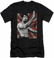 Bruce Lee slim-fit t-shirt Concentrate mens black