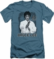 Bruce Lee slim-fit t-shirt Concentrate mens slate