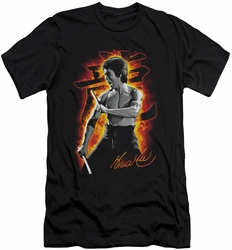 Bruce Lee slim-fit t-shirt Dragon Fire mens black