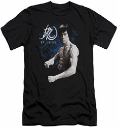 Bruce Lee slim-fit t-shirt Dragon Stance mens black