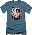 Bruce Lee slim-fit t-shirt Enter mens slate