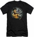 Bruce Lee slim-fit t-shirt Expectations mens black