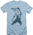 Bruce Lee slim-fit t-shirt Fighter mens light blue