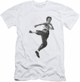 Bruce Lee slim-fit t-shirt Flying Kick mens white