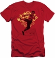 Bruce Lee slim-fit t-shirt Immortal Dragon mens red