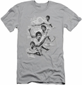 Bruce Lee slim-fit t-shirt In Motion mens silver