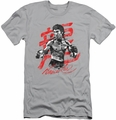 Bruce Lee slim-fit t-shirt Ink Splatter mens silver