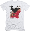 Bruce Lee slim-fit t-shirt Kick It mens white