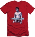Bruce Lee slim-fit t-shirt Lee Works Out mens red