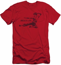 Bruce Lee slim-fit t-shirt Line Kick mens red