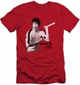 Bruce Lee slim-fit t-shirt Nunchucks mens red