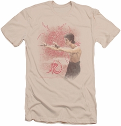 Bruce Lee slim-fit t-shirt Power Of The Dragon mens cream
