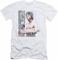 Bruce Lee slim-fit t-shirt Revving Up mens white
