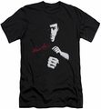 Bruce Lee slim-fit t-shirt The Dragon Awaits mens black