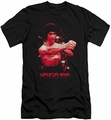 Bruce Lee slim-fit t-shirt The Shattering Fist mens black