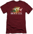 Bruce Lee slim-fit t-shirt Tri Color mens cardinal