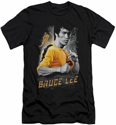 Bruce Lee slim-fit t-shirt Yellow Dragon mens black