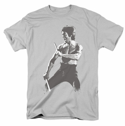Bruce Lee t-shirt Chinese Characters mens silver