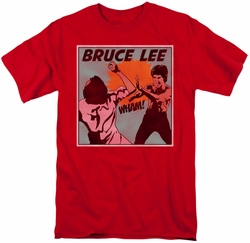 Bruce Lee t-shirt Comic Panel mens red