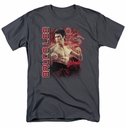 Bruce Lee t-shirt Fury mens charcoal