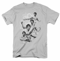 Bruce Lee t-shirt In Motion mens silver